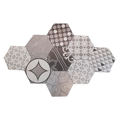 HEXAGON POTTERY TILE MIX GHEXM 23020