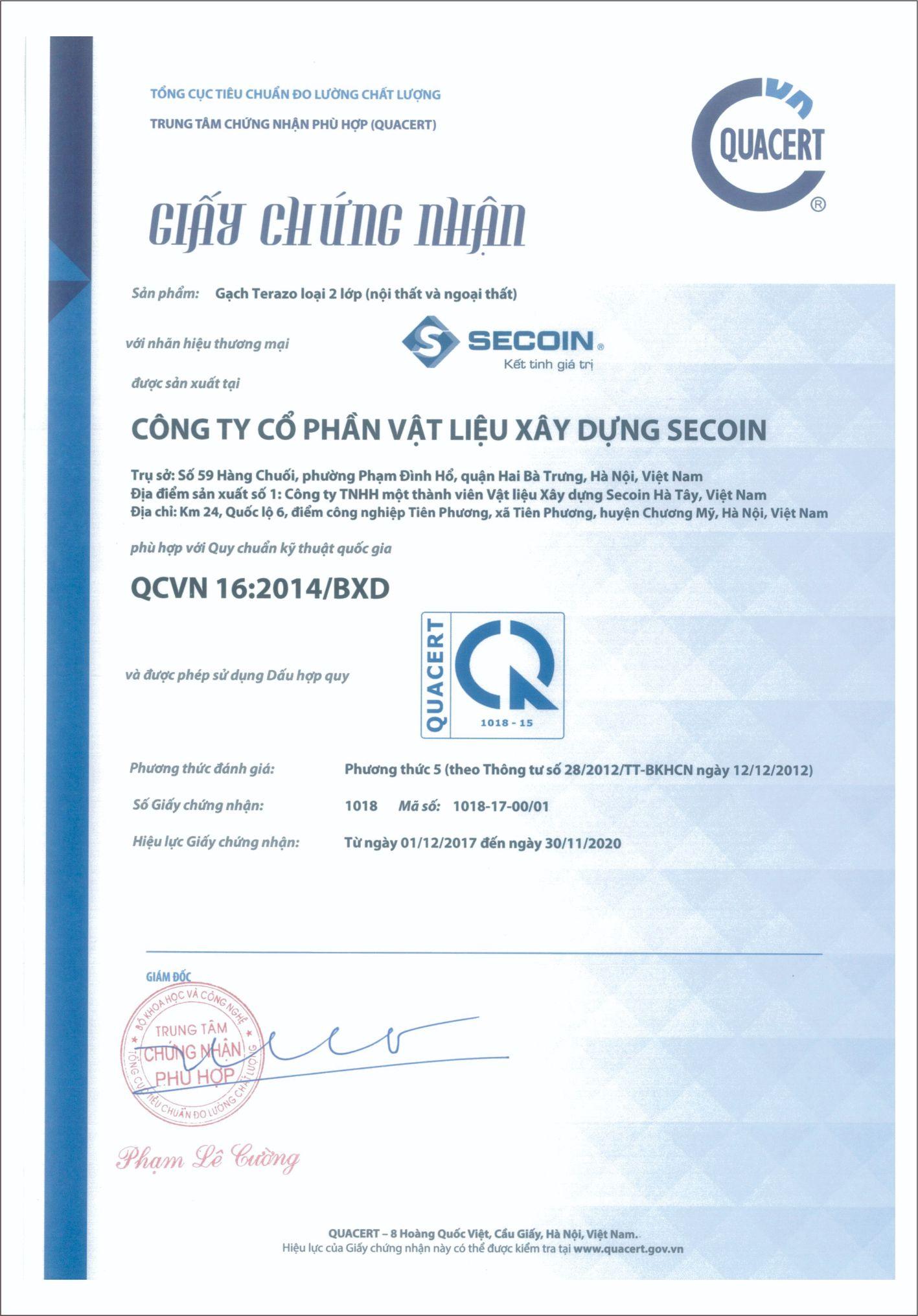 National Standards Compliance